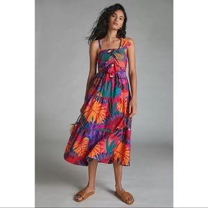 FARM Rio Anthropologie Macaw Maxi Dress